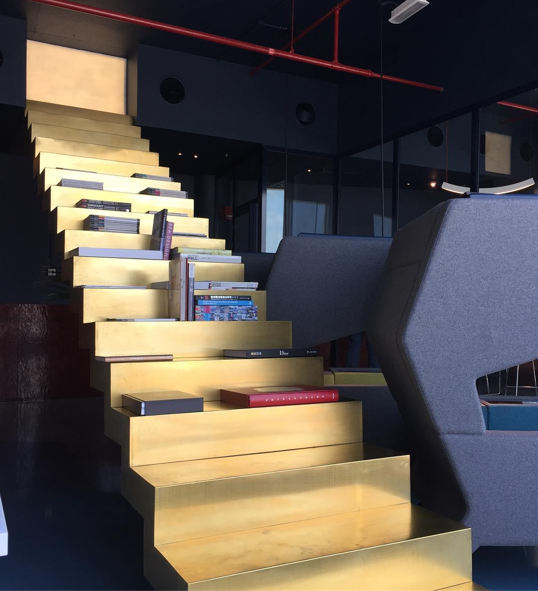 Beautiful light on our #staircasetoheaven #superfuturedesign office