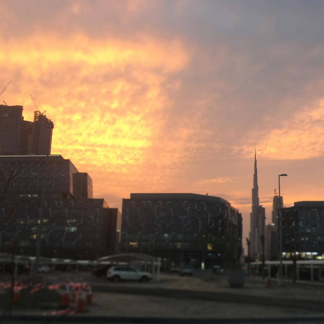 Beautiful sunset in design district tonight #iamd3 #sunset #dubai